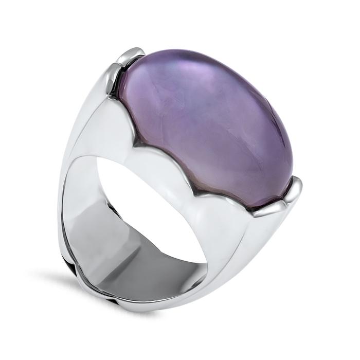 amethyst white gold ring