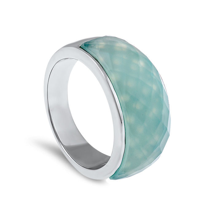 Chalcedony ring white